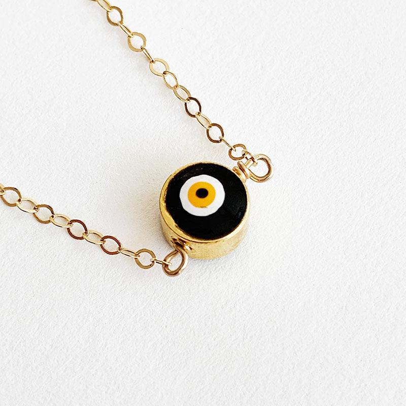 Bijoux B,  Jewelry,  Simple Evil Eye Necklace - 14kgf, - Coast Modern