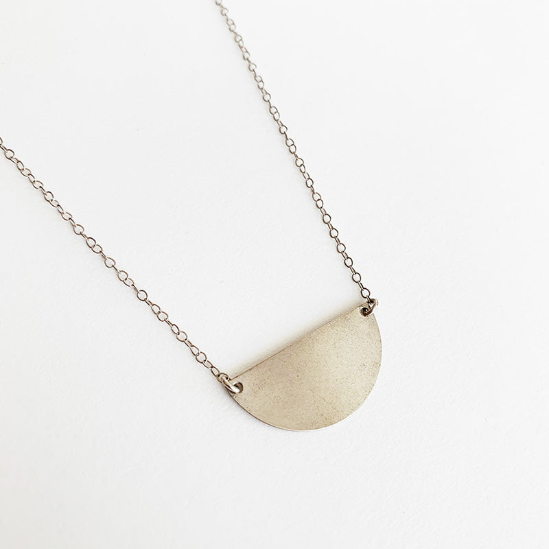 Bijoux B,  Jewelry,  Half Moon Necklace Silver, - Coast Modern