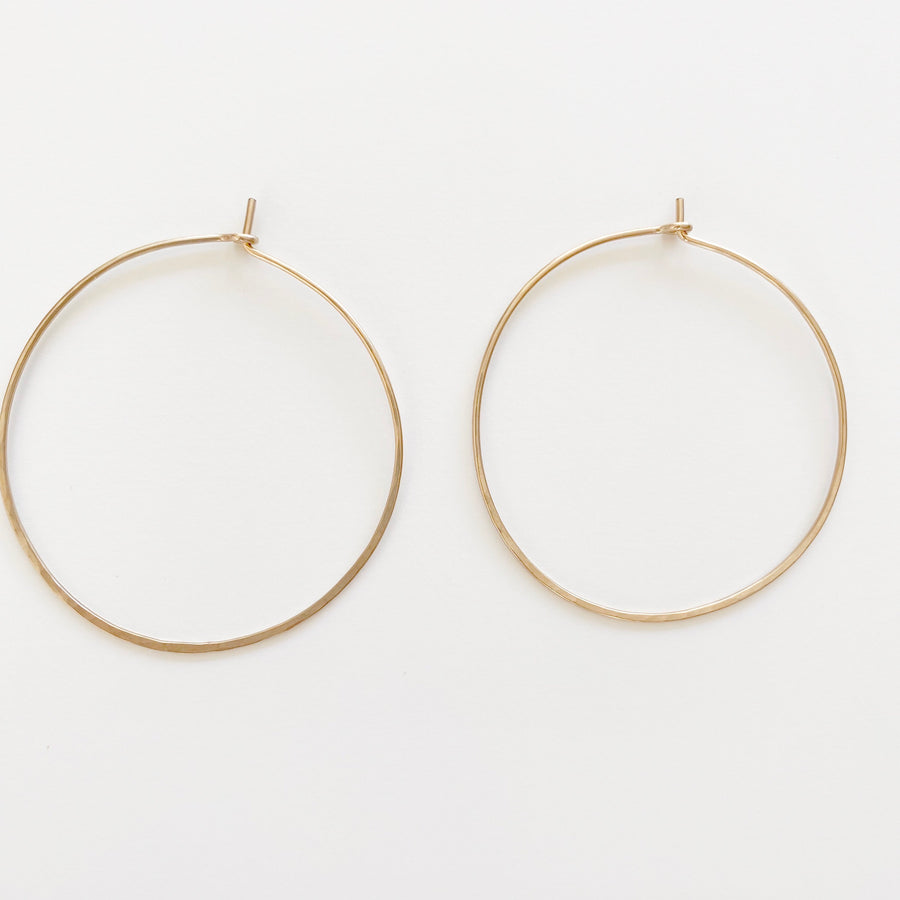 Bijoux B,  Jewelry,  Traditional Hoop Earrings - 14kgf, - Coast Modern