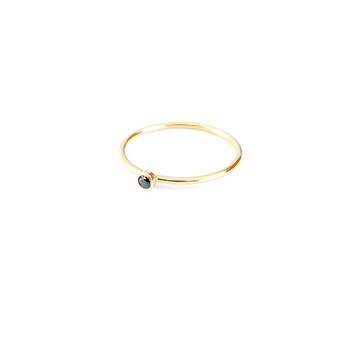 Bijoux B,  Jewelry,  Stone Ring Black - 14kgf, - Coast Modern