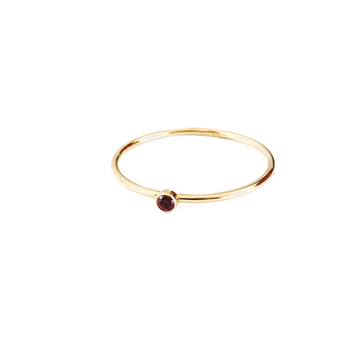 Bijoux B,  Jewelry,  Stone Ring Ruby - 14kgf, - Coast Modern