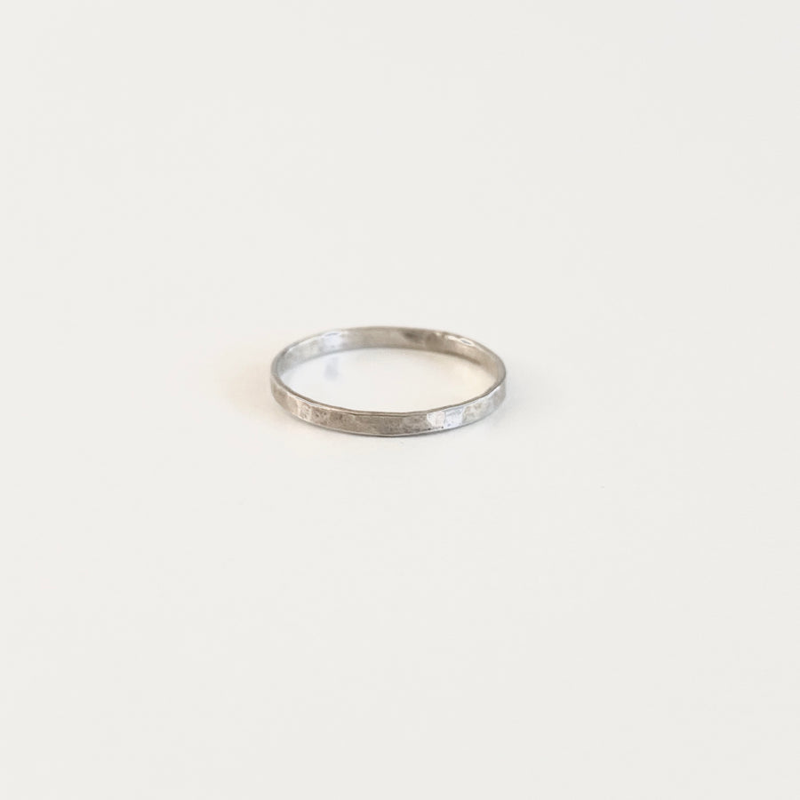 Bijoux B,  Jewelry,  Medium Hammered Ring - Sterling Silver, - Coast Modern