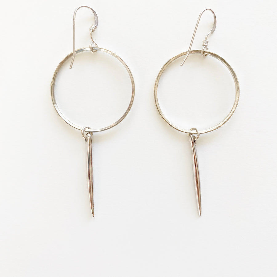 Bijoux B,  Jewelry,  Endless Quill Earrings - Sterling Silver, - Coast Modern
