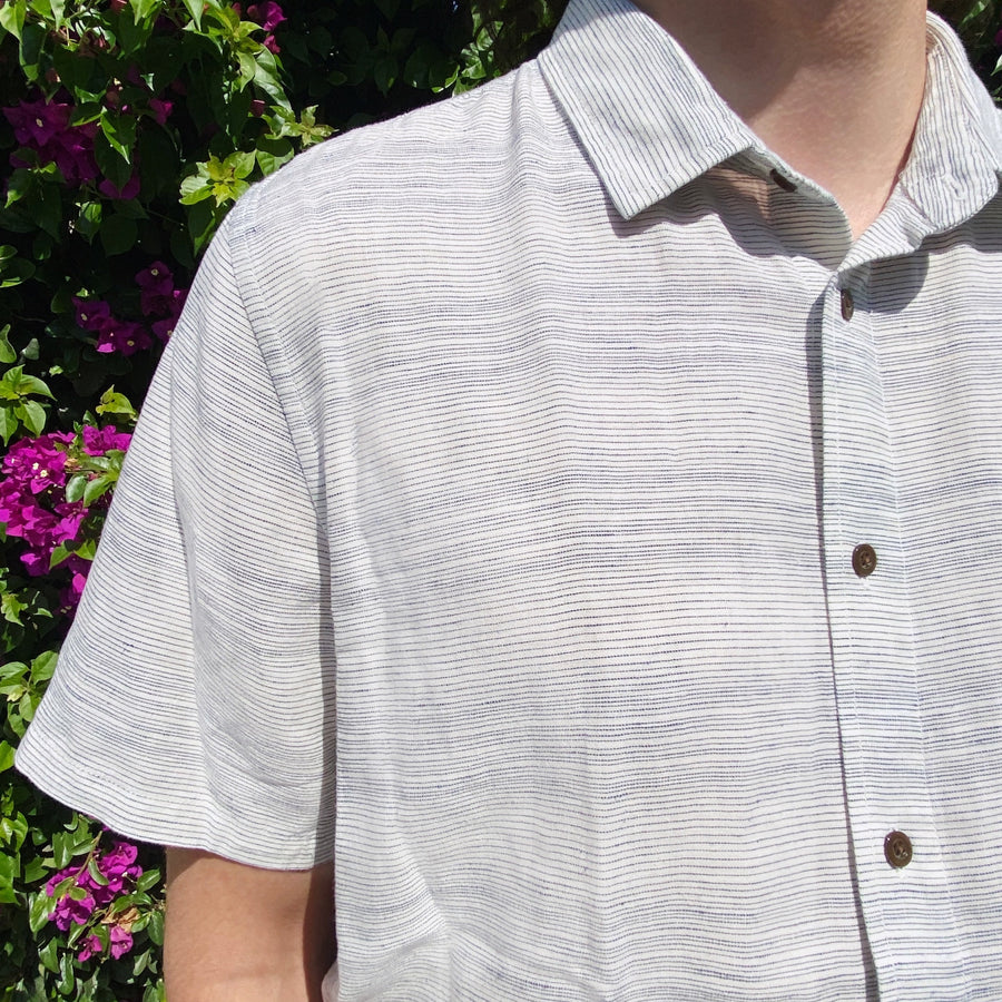 Outerknown S.E.A. Shirt - Marine Mirage Stripe - Coast Modern