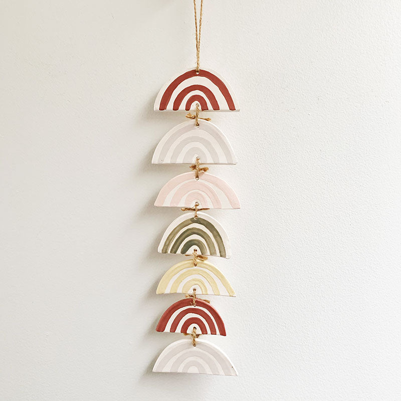Luna Reece Ceramics,  Furniture & Decor,  Luna Reece 7 Tiered Rainbow Wall, - Coast Modern