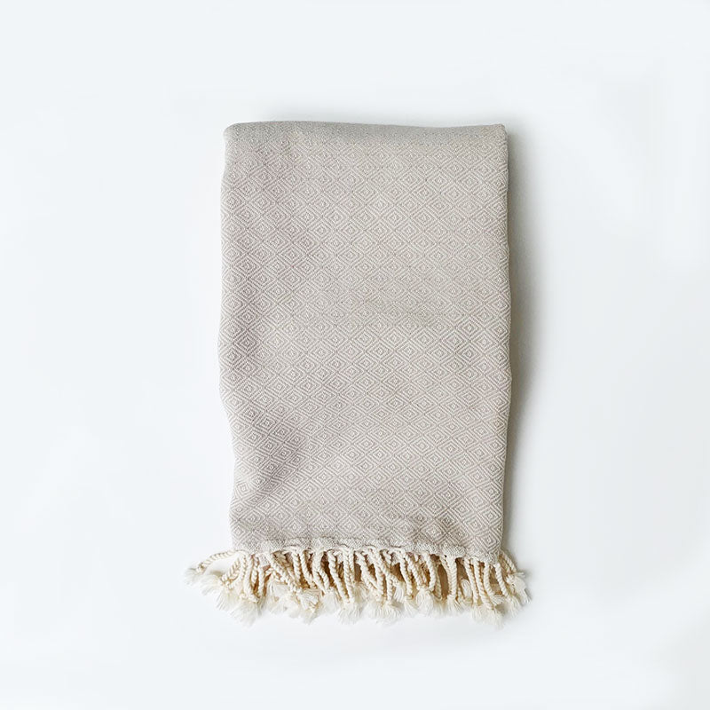 Rasim Arabaci,  Textiles,  Diamond Turkish Towel - Sand, - Coast Modern