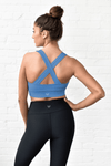 Storm Blue Strappy Sports Bra