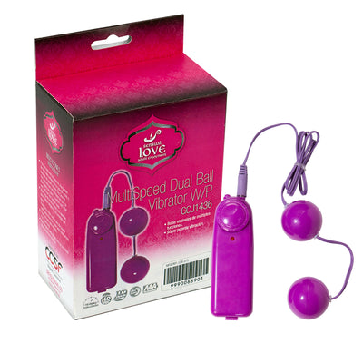MULTI SPEED DUAL BALL VIBRATOR W/P