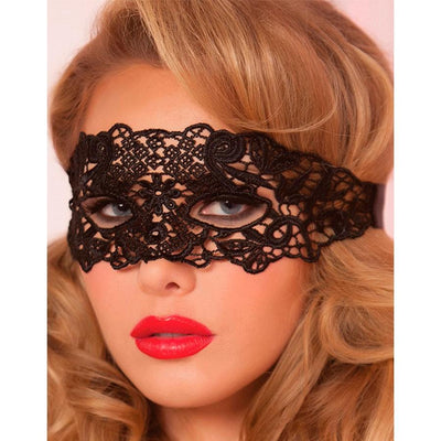LUXURIOUS BLACK LACE EYE MASK
