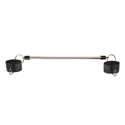 DETACHABLE METAL ANKLE SPREADER BAR BLAC
