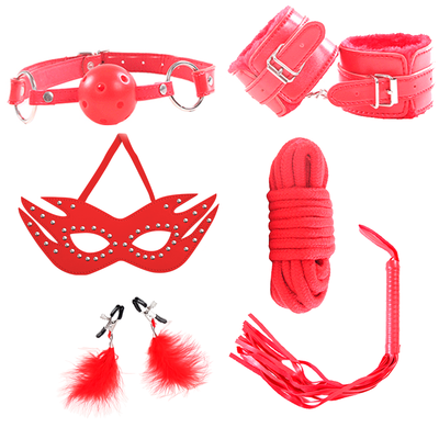 BONDAGE X 6 SET RED