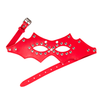 STUDDED EYE MASK RED