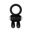 POWER CLIT SILICONE COCKRING BLACK RABIT