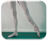 virtual pointe shoe fitting pic - tendu to seconde
