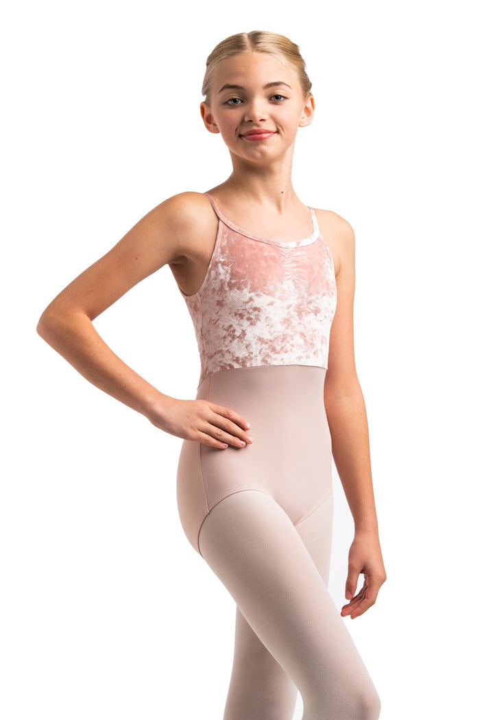 AinslieWear 1078CV Girls  Liberty with Crushed Velvet Leotard