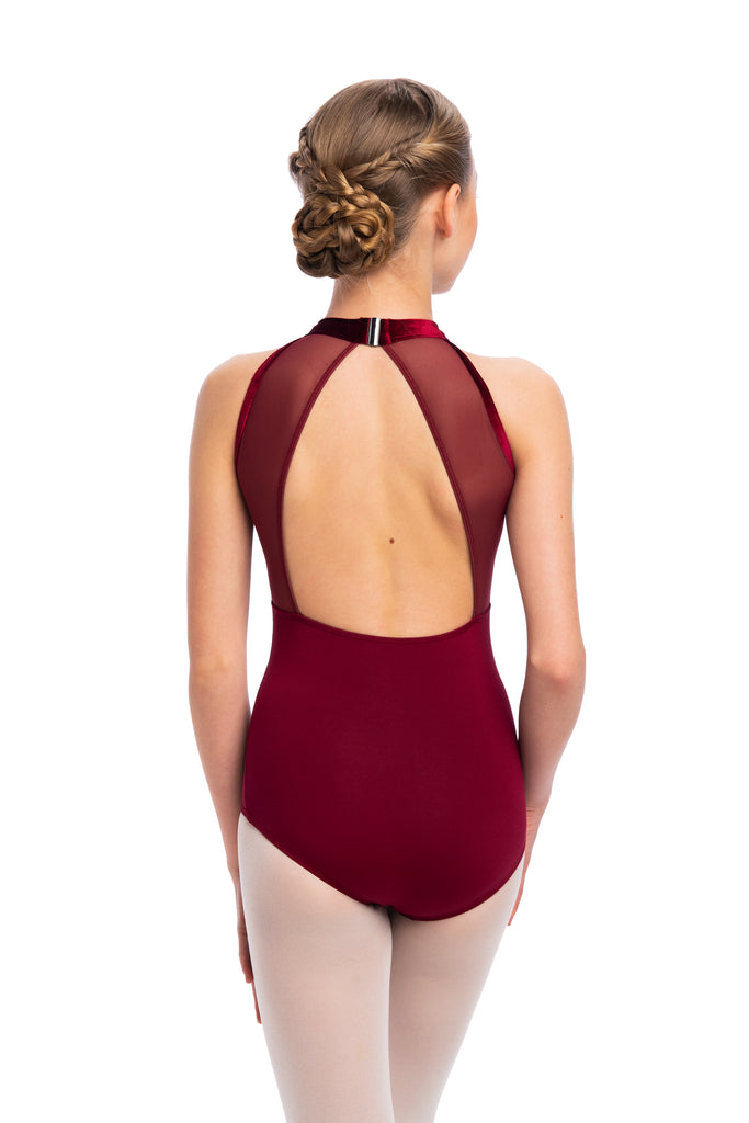 AinslieWear 1091MEVG Vera Girls Leotard with Velvet
