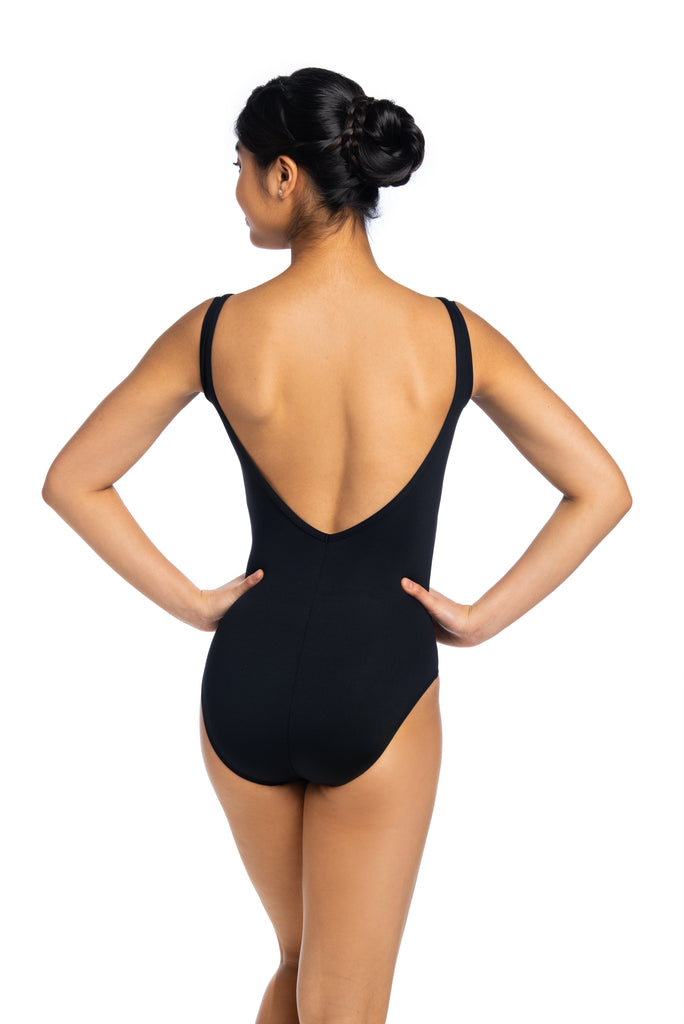AinslieWear 117 RO Low Back Tank Leotard  with Rosebud  Print