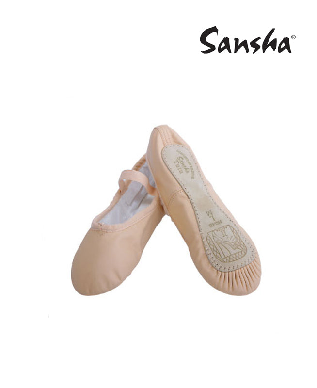 buy Sansha Leather Full Sole Children's Ballet Slippers