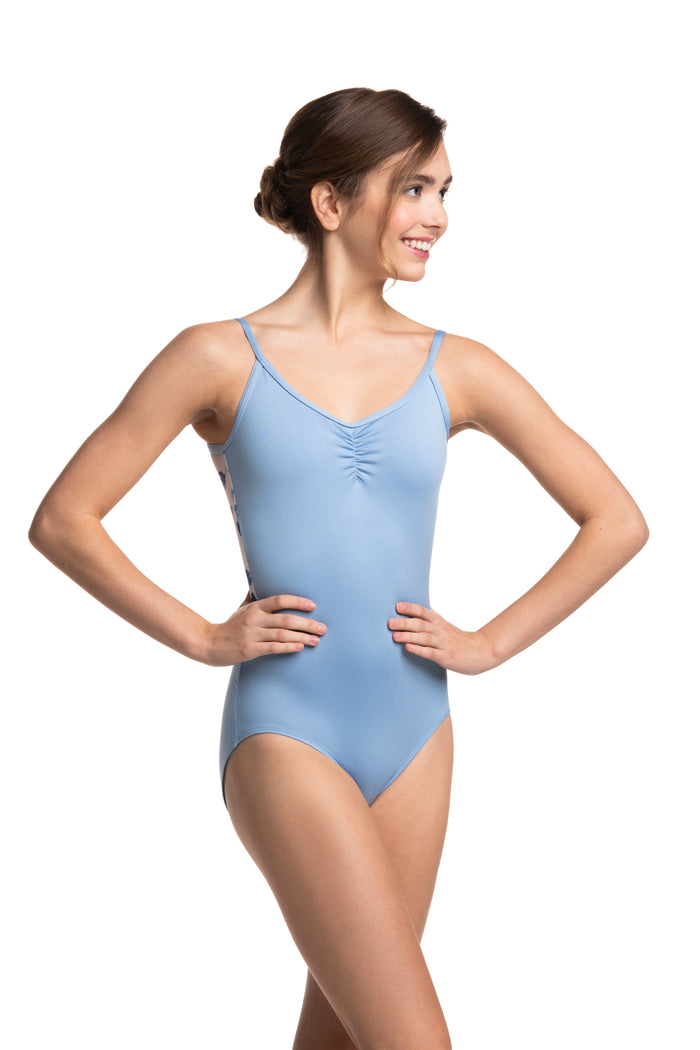 AinslieWear 136 Allegra Pinch with Delphinium Leotard