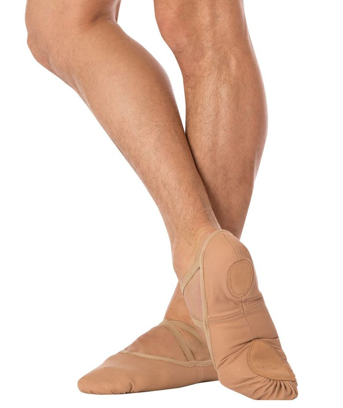 Angelo Luzio Tan Canvas Ballet Slipper