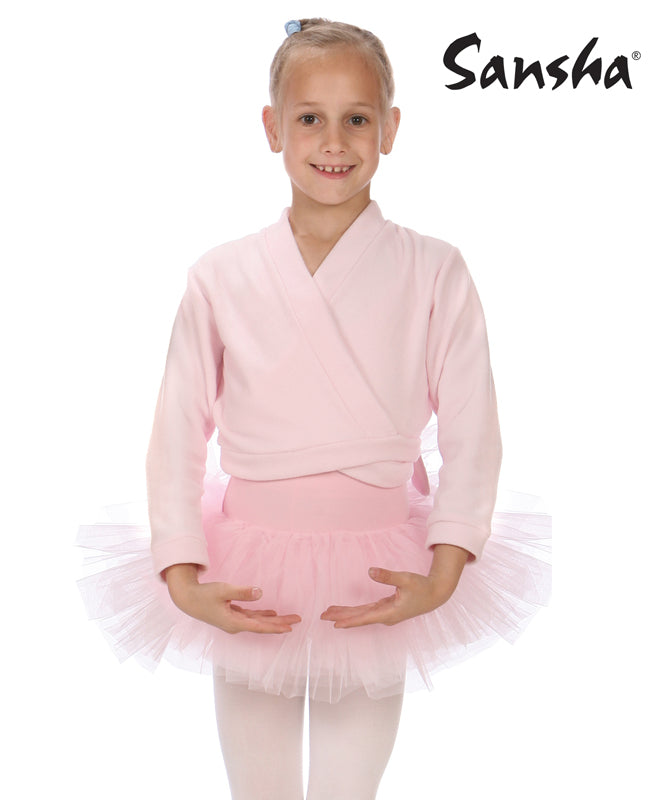 sansha ballet wrap sweater girls