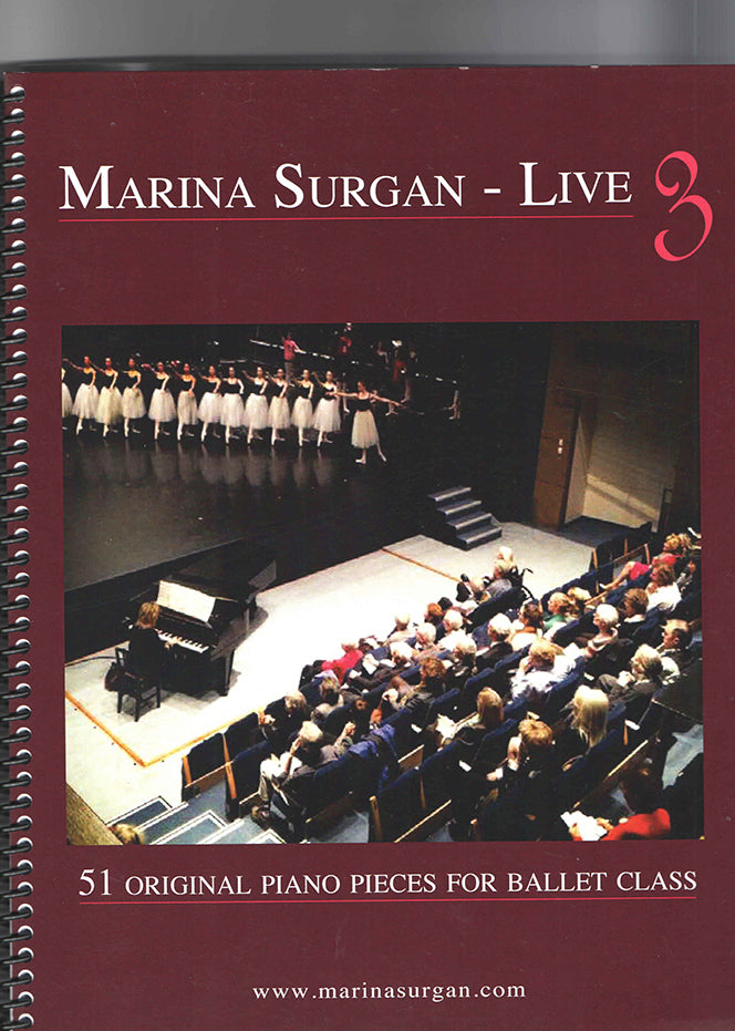 Marina Surgan Live 3 Sheet Music - Ballet Class Music for All Levels
