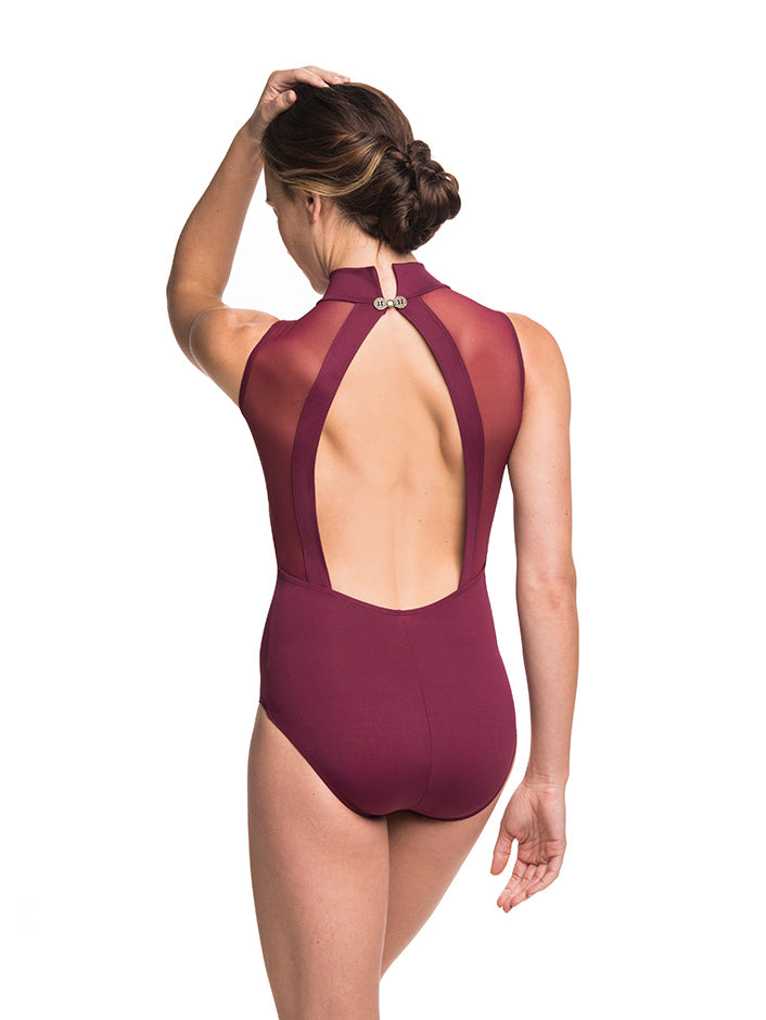 Ainsliewear Angelina Leotard Burgundy