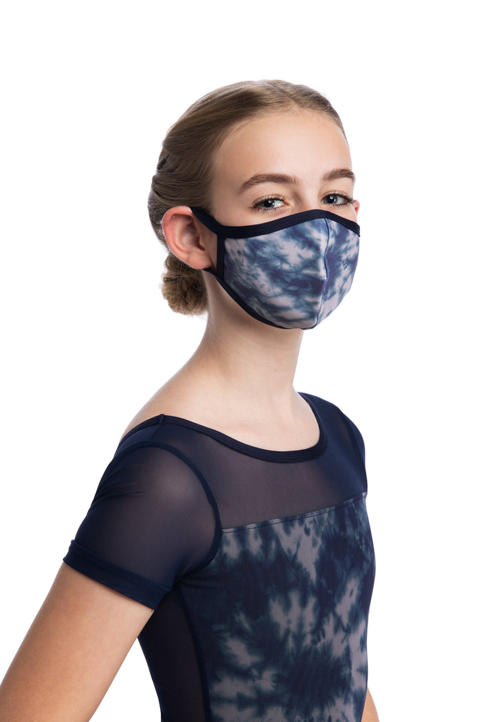AinslieWear Child Mask in Shibori Print