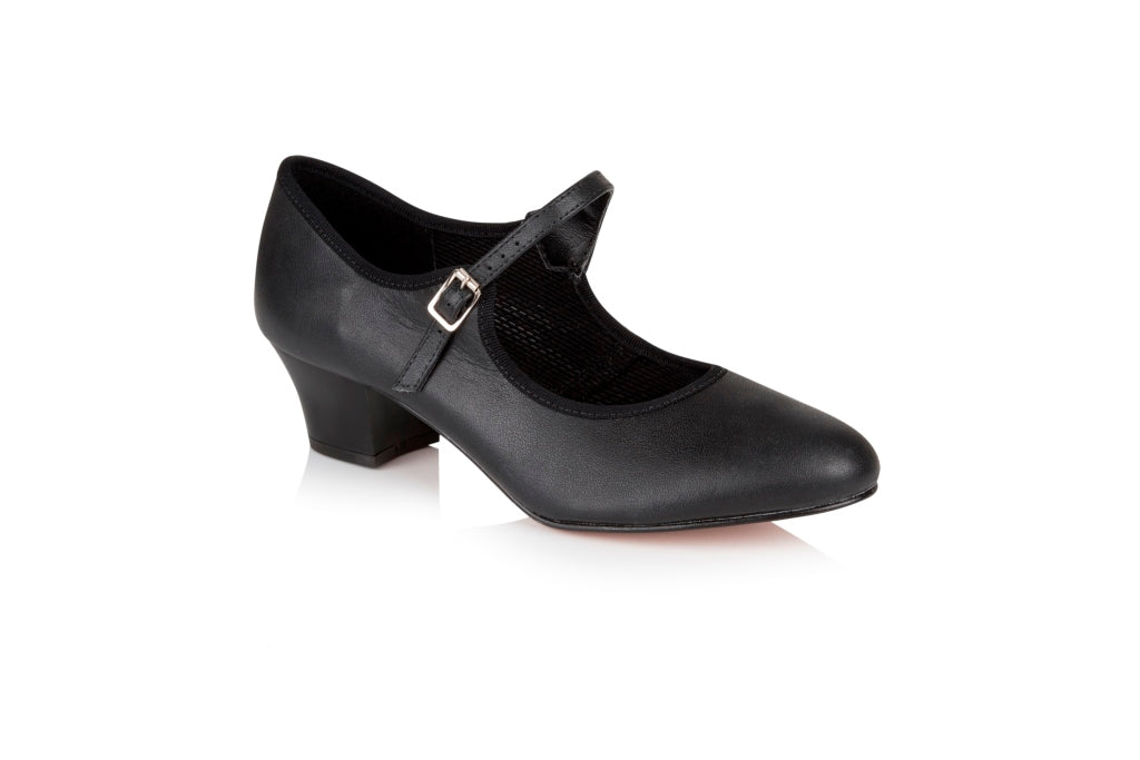buy Freed Leather Character Shoe with Cuban Heel