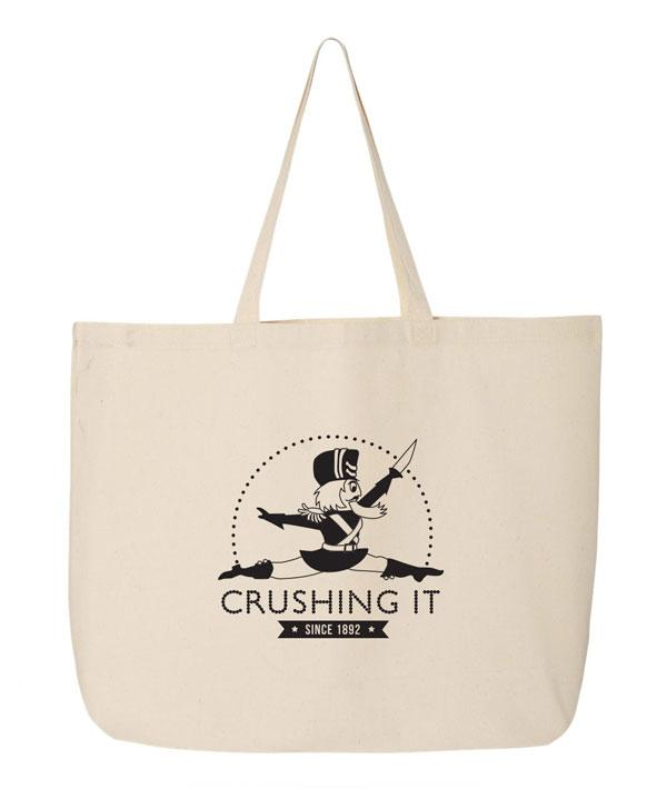 Crushing it nutcracker tote