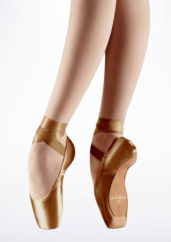 Gaynor Minden Pointe Shoe Sculpted (SC) 4 Feather (F) Mocha