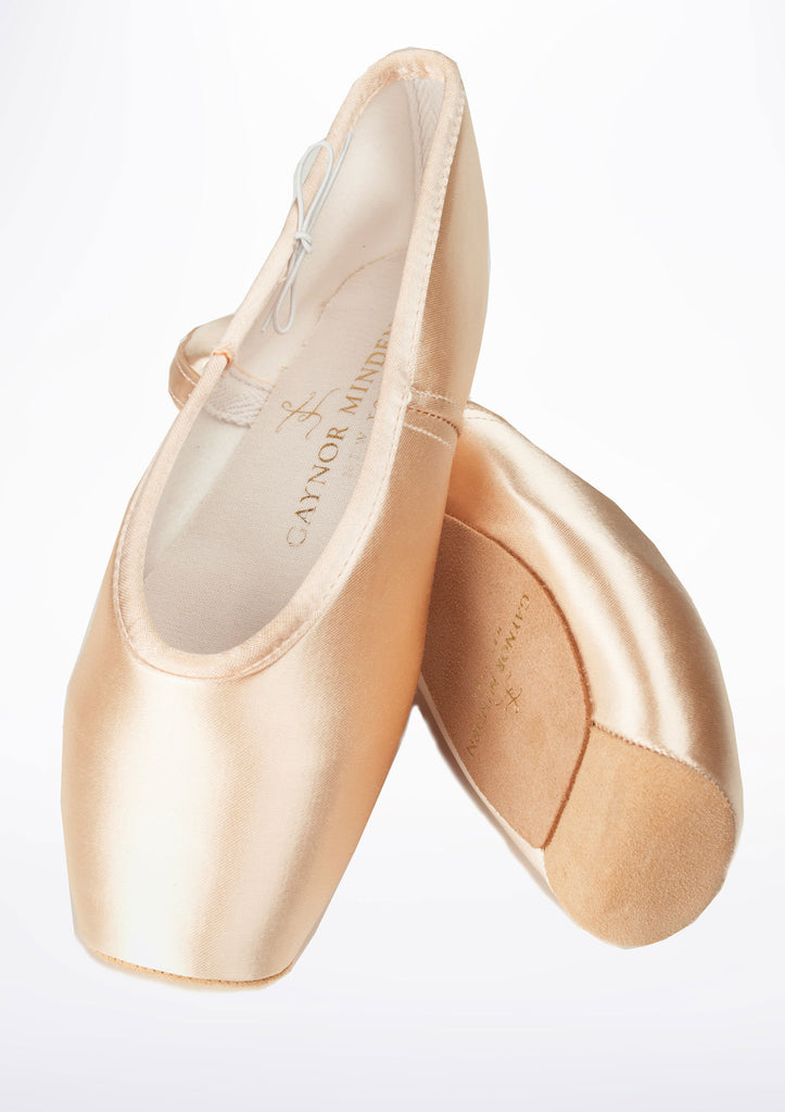 Gaynor Minden Pointe Shoe Classic (CL) 4 Feather (F) Pink
