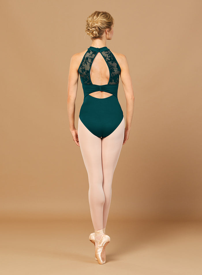 Bloch L7855 Halter Neck Open Back Mesh Leotard