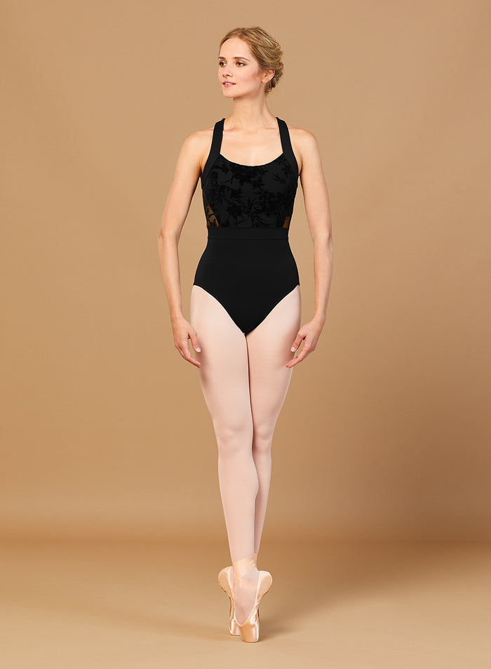 Bloch L7885 Floral Mesh Wide Strap Leotard