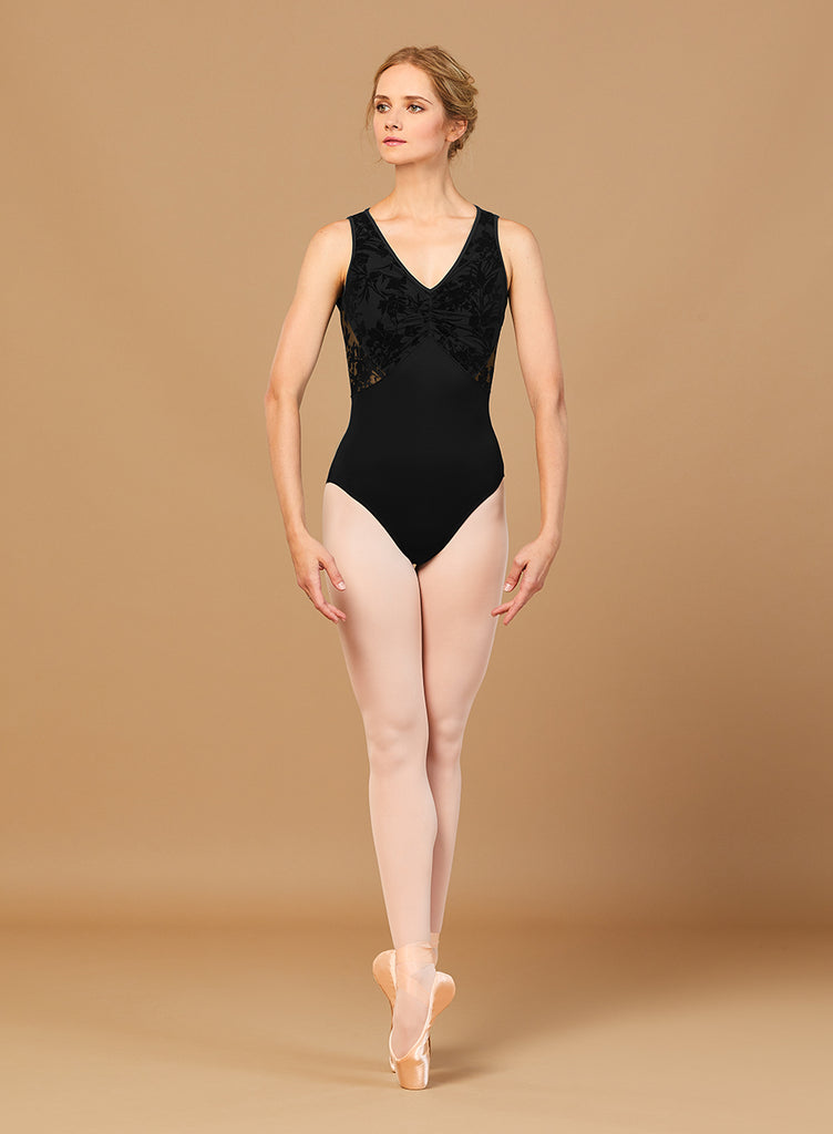 Bloch L7895 Gather Front Mesh Tank Leotard