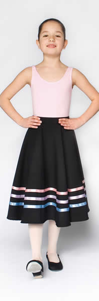 Little Ballerina Character Skirt Pastel Ribbons