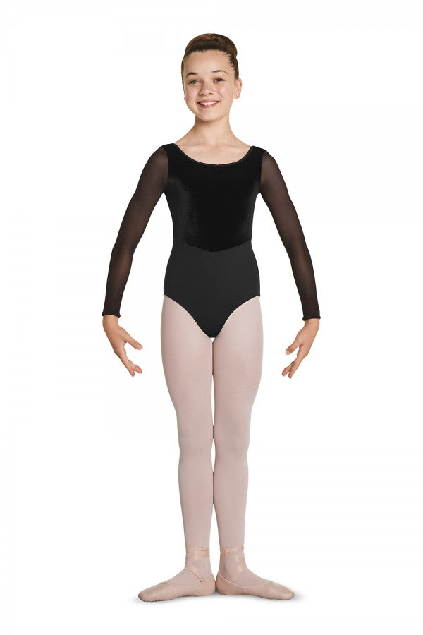 Mirella M115C Girls Long Sleeve Leotard