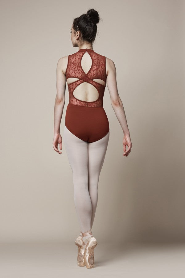 Mirella M3070LM High Neck Lace Tank  Leotard