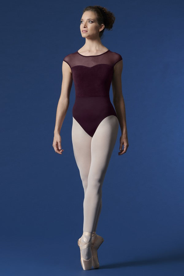 Mirella M5077 Cap Sleeve Sweetheart Leotard