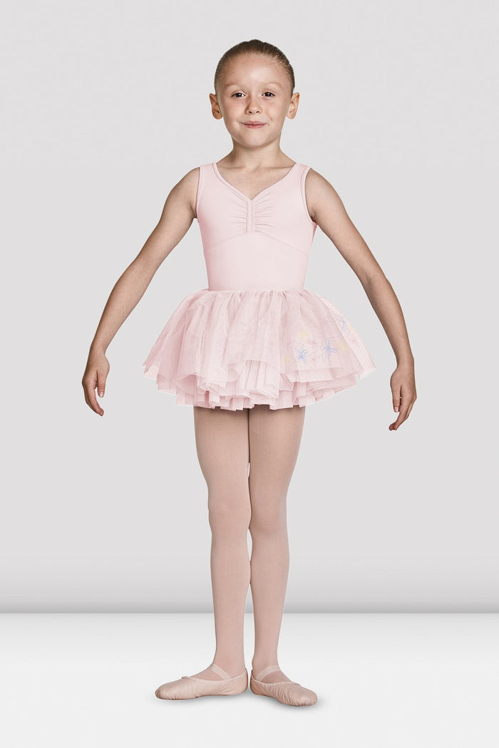 Mirella MS137C Jasmine Embroidered Tutu Skirt Girls