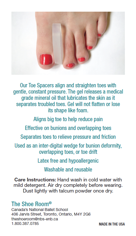 buy toe spacers pointe shoes