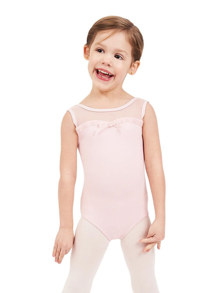 Capezio 11594C Sweet Kisses Mesh Yoke Tank Leotard Girls