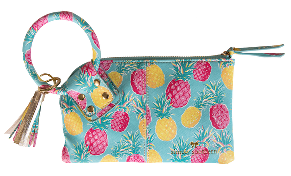 Simply Southern Pineapple O Ring Wristlet