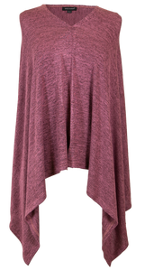 Simply Southern Poncho Maroon