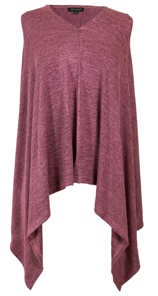 Simply Southern Poncho Maroon SALE