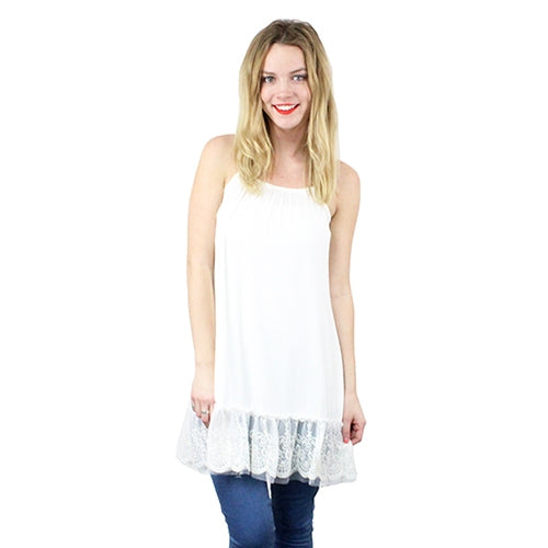 Cami Lace Extender White