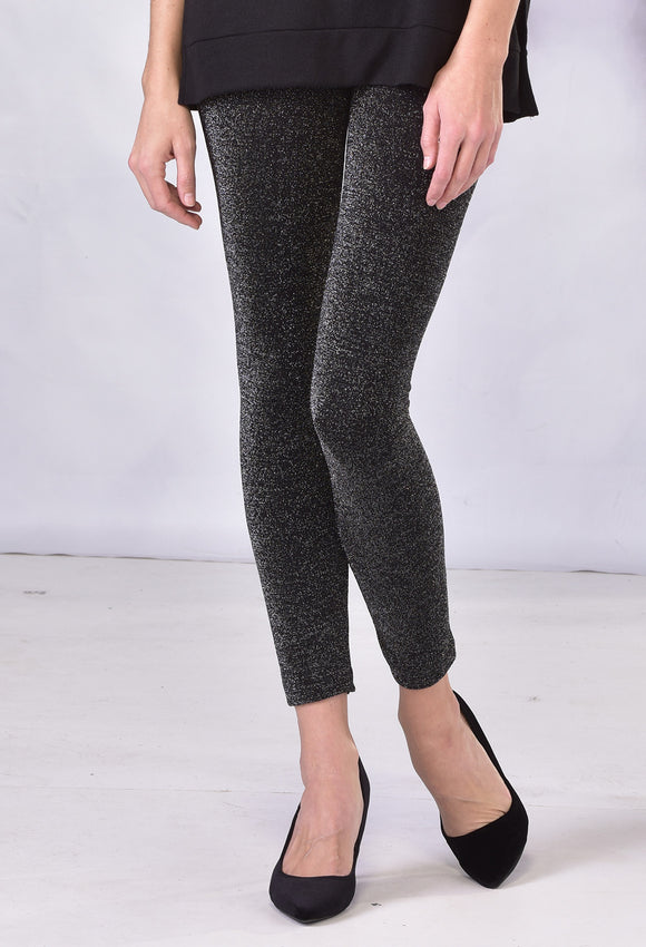 Charlie Paige Fleece Lined Leggings with Lurex