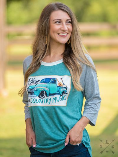 Play That Country Music Patch Raglan