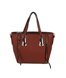 Mini Tote Handbag Coffee