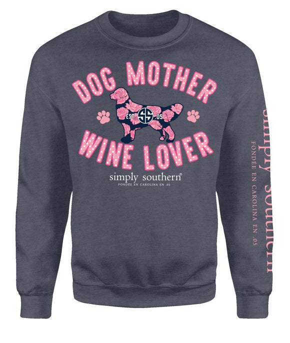 Simply Southern Dog Mother Crew Neck Sweatshirt